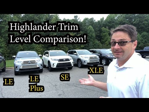 Comparing 2018 Highlander Models - How to pick your trim level