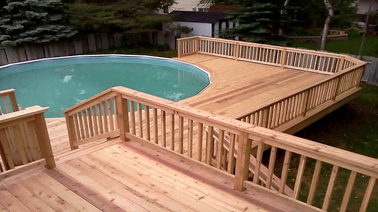 Simple Above Ground Pool Deck Plans Youtube