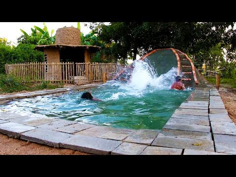 Build Underground Swimming Pool And Water Slide (full video)