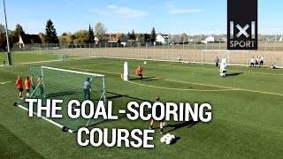 Football/ Soccer drill for strikers: The goal-scoring course