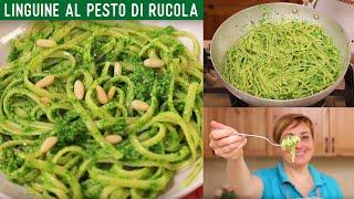 LINGUINE AL PESTO DI RUCOLA Ricetta facile - Fatto in Casa da Benedetta