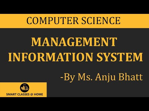 Management information system , lecture, BCA, MCA  by Anju Bhatt.