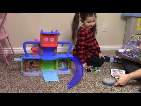 Brand new PJ Masks toy clubhouse! First open and reveal!  S01 Ep1