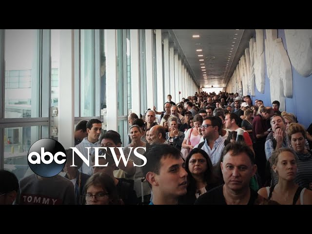 Nationwide US Customs computer system malfunction causes airport chaos