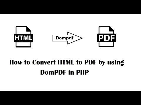 Html To Pdf Using Php
