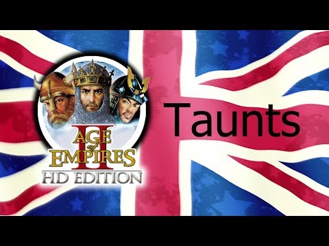 Age of Empires 2 - All Taunts (In English)