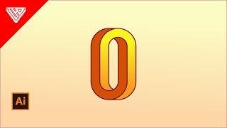 Wie schaffen Sie die Illusion ''O'' - logo in Adobe Illustrator