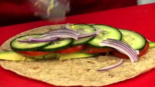 Vision Personal Training Low Fat Turkey, Avocado & Salad Wrap