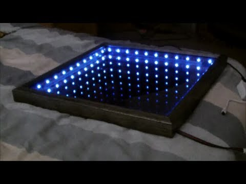 Make an l e d illusion mirror youtube Cool things to do with led strips