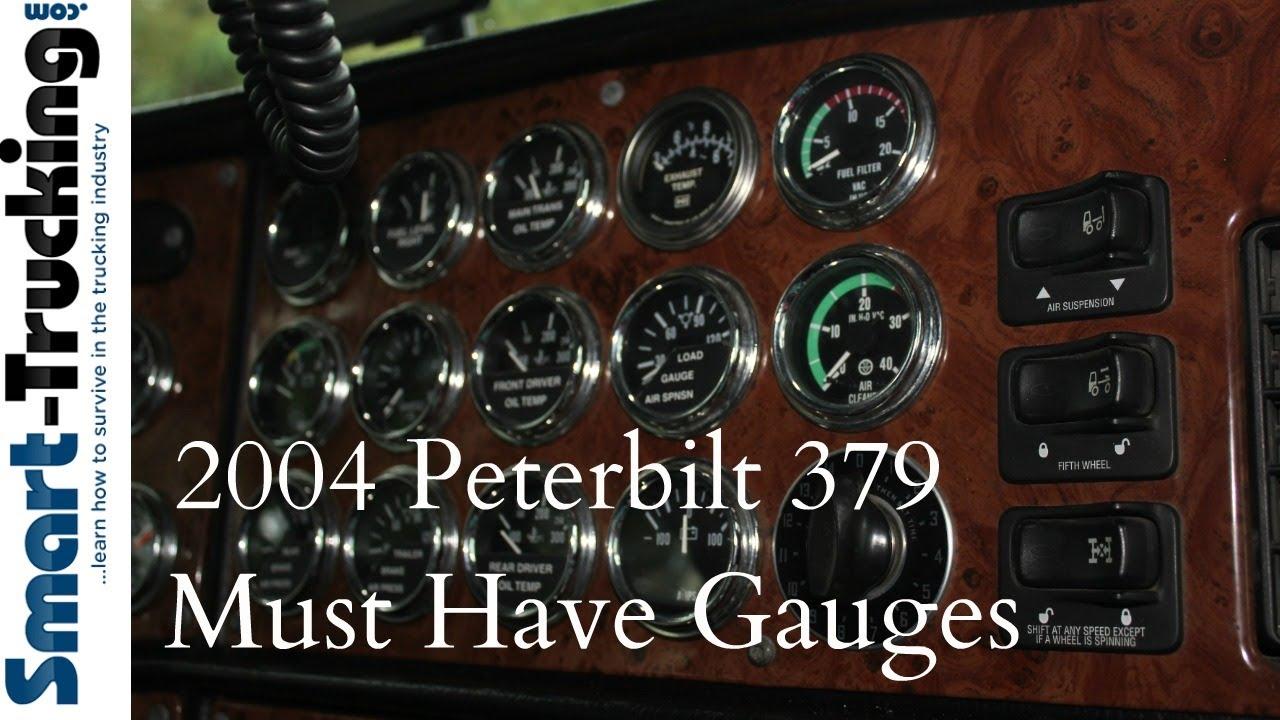 2004 peterbilt 379 gauges tour [ 1280 x 720 Pixel ]