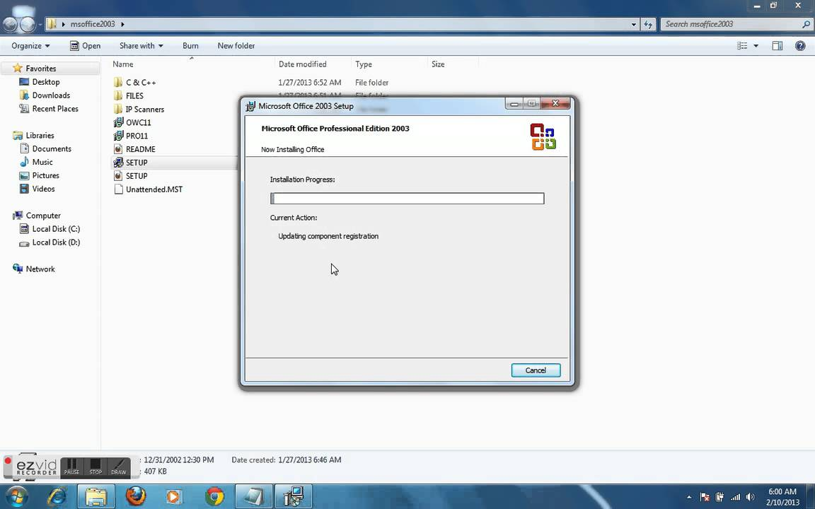How to install ms office 2003 in windows 7 youtube for Windows 7 bureau vide