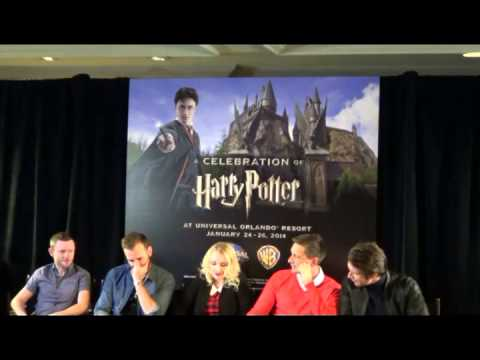 Media Q & A with some Harry Potter cast at A Celebration of Harry Potter 1-24-14