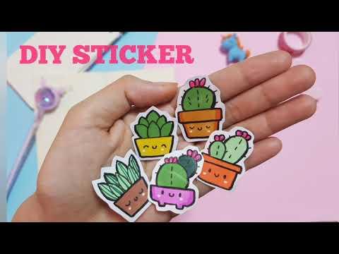 Tự làm sticker| Cách làm sticker cute| How to make cute sticker| Diy paper sticker|home made sticker