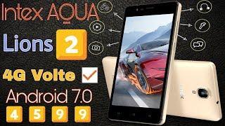 Intex AQua lions 2 full specification amp review intex launch aqua lions 4599 4g volte phone