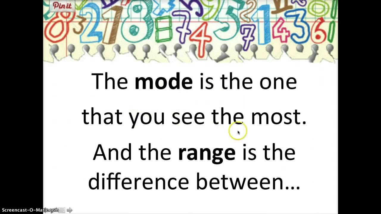 how to get mean mode and median on excel
