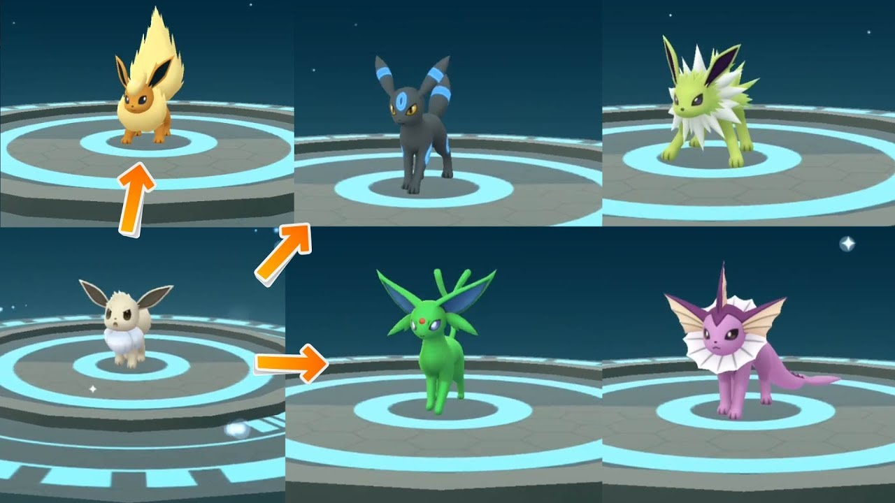 Pictures of pokemon go shiny eevee evolves