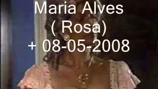 Novela Xica da Silva - Atores Falecidos