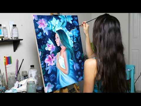 "Oil Painting Time Lapse | ""The Sleepwalker"" by Lena Danya"