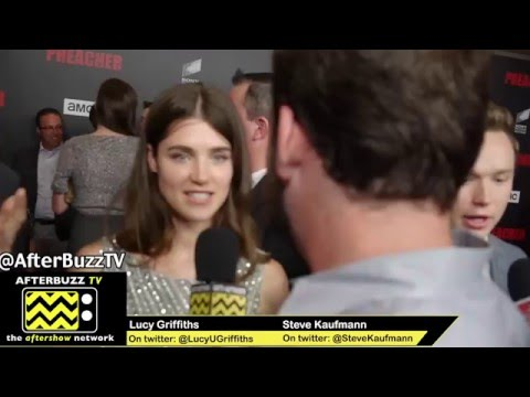 AMC's Preacher red carpet premeire: interview with: Lucy Griffiths