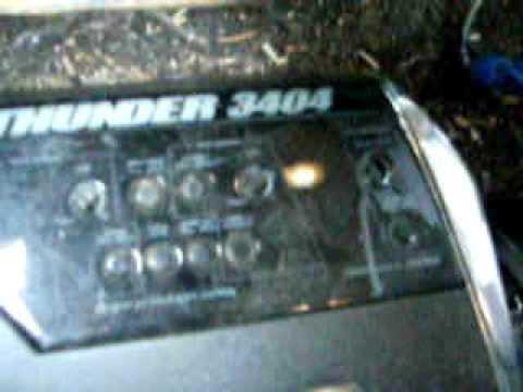my mtx 4 ch amp 3404, running mtx speakers - YouTube