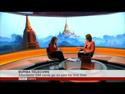 Samantha Barry BBC World News on a major day for Burma's mobile market