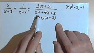 Solving Rational Equations, part 1 070-28a