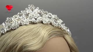 Bije.ru: Свадебная диадема с родиевым покрытием и стразами Elrinen (Эльринен)