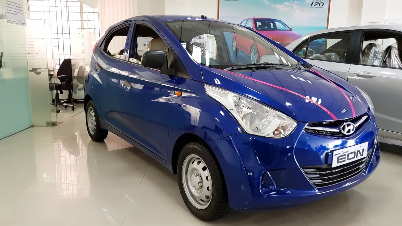 2018 Hyundai Eon Vs Grand I10 Both In Blue Color Exterior And