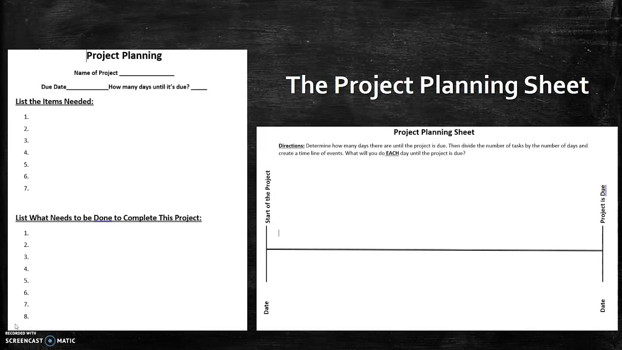 mr panfalone s time management technique the project planning