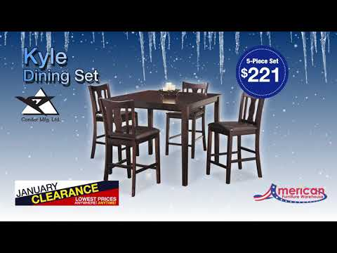 January Clearance Dining :15