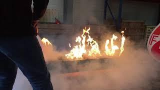 Démonstration Extinc'torche sur une rampe de gaz
