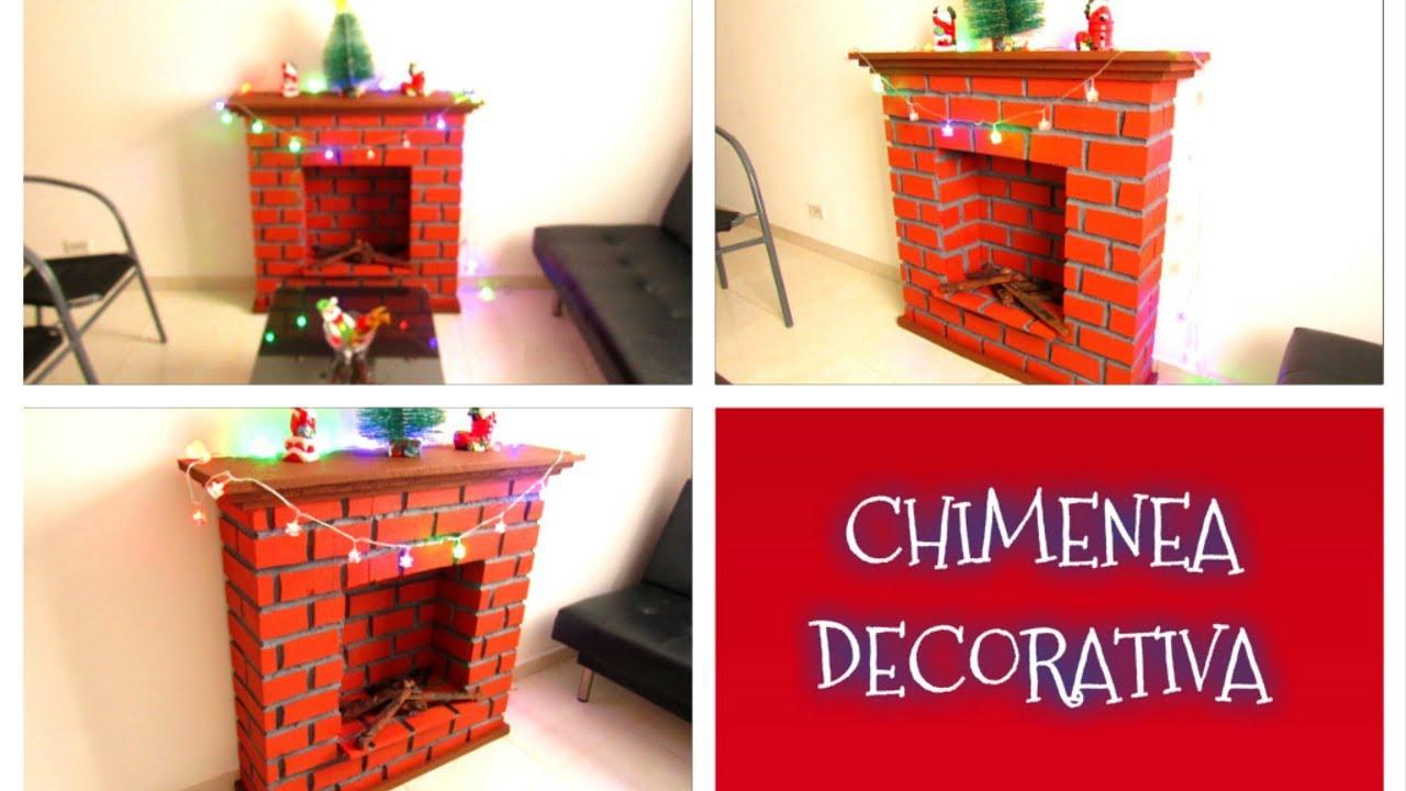 Diy como hacer una chimenea decorativa navide a f cil y - Hacer chimenea decorativa ...