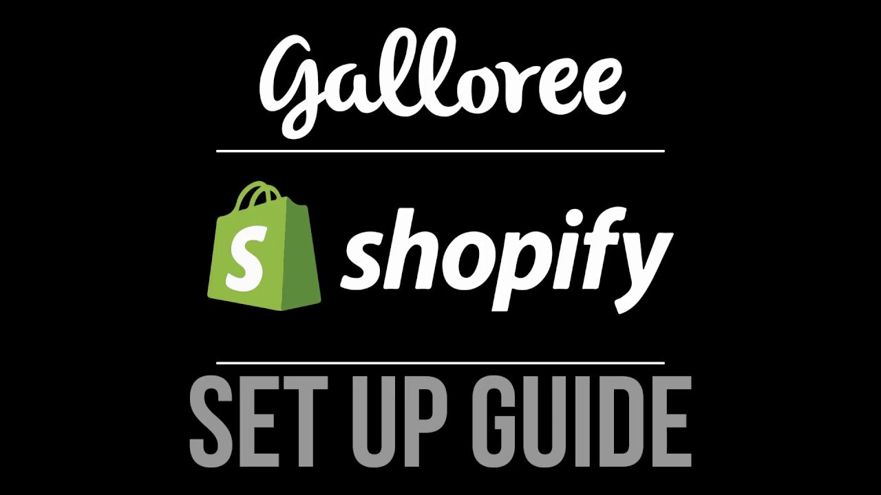 shopify t shirt fulfillment set up by galloree youtube