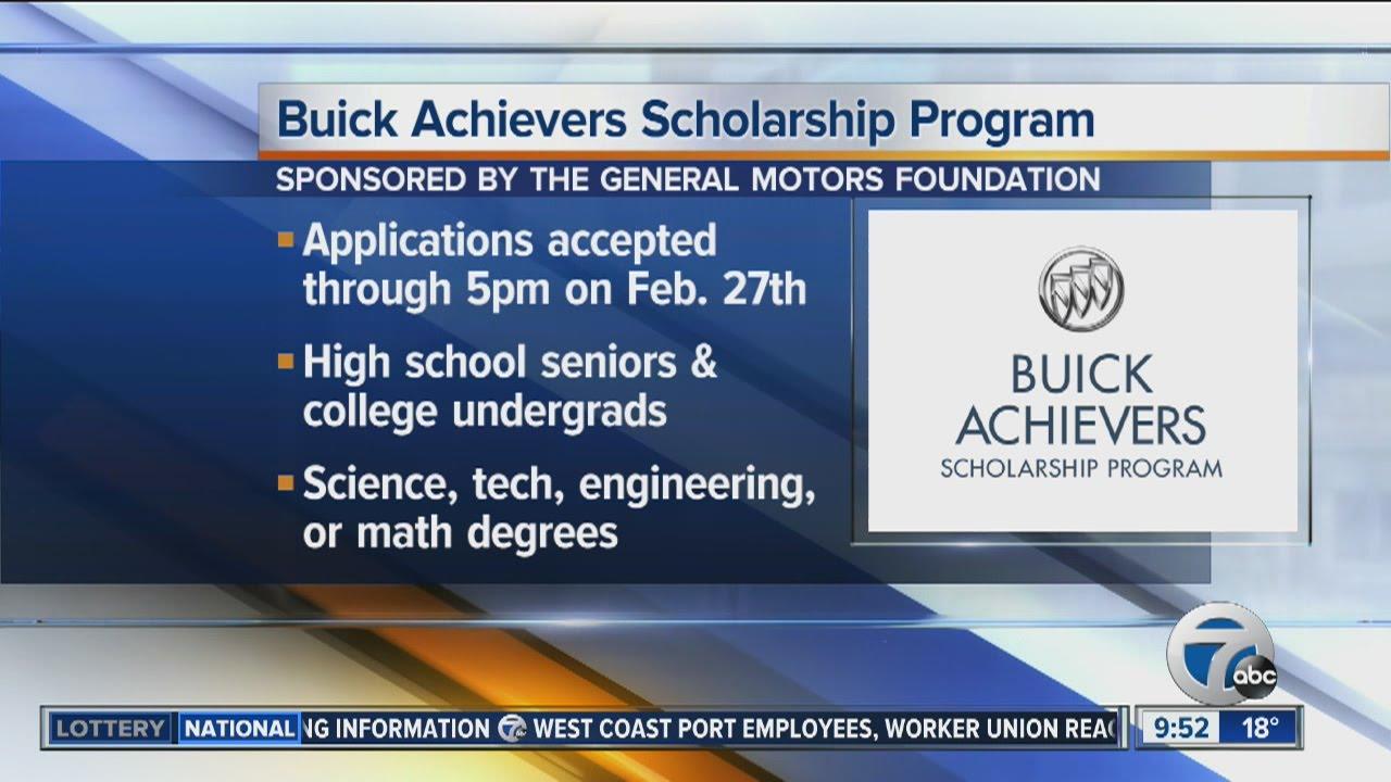 Buick Achievers Scholarship >> Buick Achievers Scholarship Program