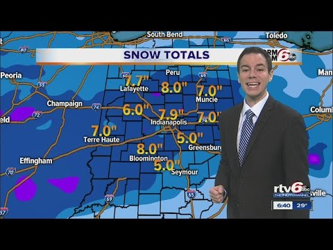 ACTION: More Than 7 Inches Of Snow Falls On Indianapolis
