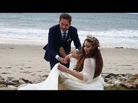 Troian Bellisario & Patrick J. Adams' California Wedding
