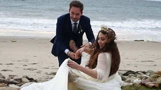 Troian Bellisario & Patrick J. Adams' California Wedding