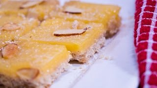 Lemon Bars With Almond Crust | Rookie With A Cookie