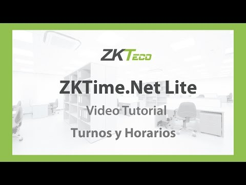 Video Tutorial: ZKTime.Net Lite (Turnos y Horarios)