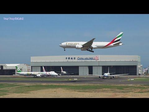 [縮時攝影][Special liveries] RCTP 23L Runway Takeoff & Landing 桃園機場單跑道 背包客
