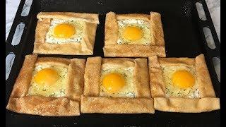 Интересные БЛИНЫ А-ЛЯ ХАЧАПУРИ Это Безумно Вкусно!!! / Pancakes with Egg and Cheese