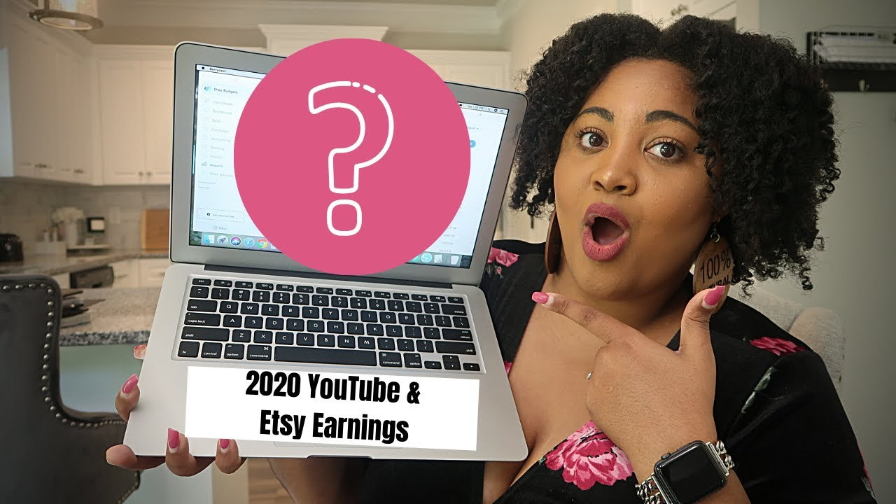 HOW MUCH I'VE MADE ON YOUTUBE & ETSY + HOW I MAKE MONEY ONLINE IN 2020..I'M SHOOK | CA