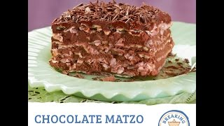 Chocolate Matzo Mousse Cake