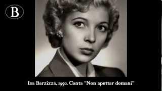 """Isa Barzizza canta """"Non aspettar domani"""", di Pippo Barzizza. Dal film """"Figaro qua, Figaro là"""", 1950."""