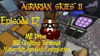 Agrarian Skies 2 / ME Drive / ME Crafting Terminal  / Ep 12 / Minecraft