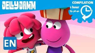 Jelly Jamm English. 1Hour Compilation (Ep.36-40) Cartoons in English for kids