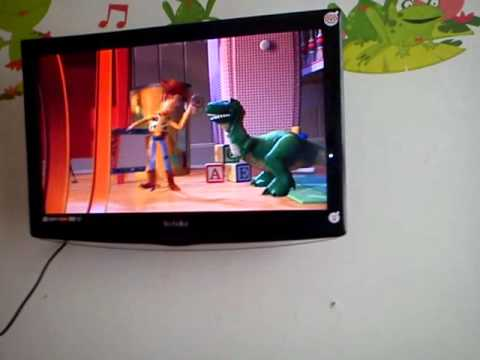 My Kids New 22 Technika Hd Lcd Tv With Built In Dvd Player Youtube