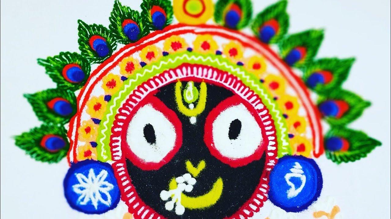 Prabhu Sri Jagannath rath yatra special Rangoli designs