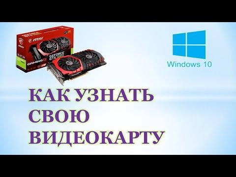 Как посмотреть видеокарту на Windows 10.Как узнать свою видеокарту