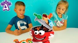 Барбекю пати для детей Жарим овощи и получаем призы  Barbecue Party Game for children Игры для детей